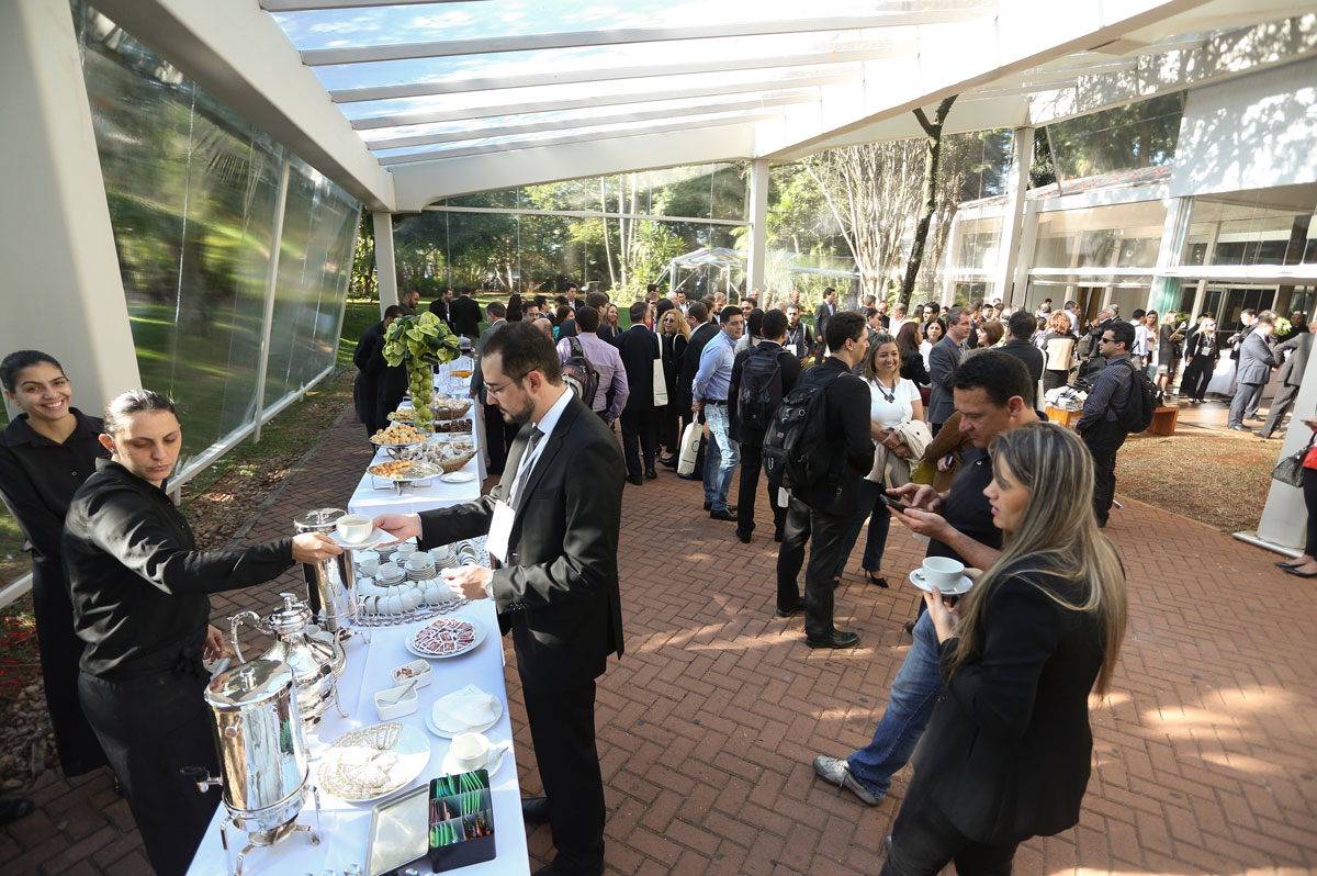 Tfs Events Participants Enjoy Coffee